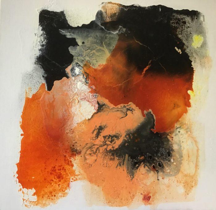Compositie in oranje 100 - 100 cm